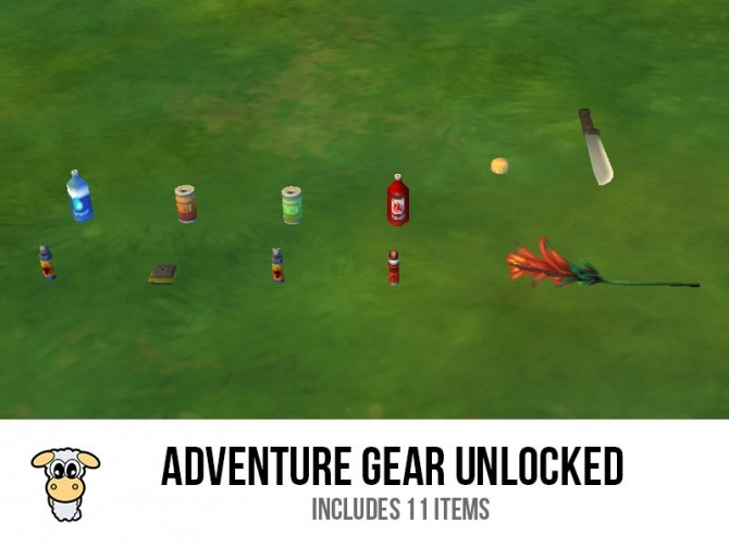 Sims 4 Adventure Gear Unlocked by indiaskapie at Mod The Sims