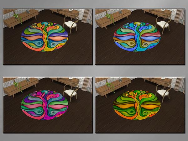 MB Urban Rug Tree of Life by matomibotaki at TSR image 9317 Sims 4 Updates