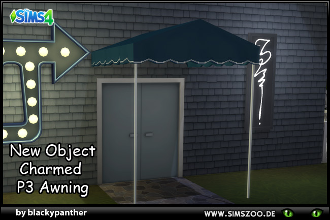 Sims 4 Charmed P3 Awning by blackypanther at Blacky's Sims Zoo