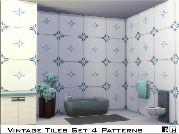 Vintage Tiles Set by Pinkfizzzzz at TSR image 939 Sims 4 Updates
