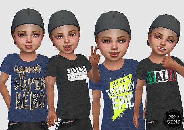 Sims 4 Boy Tees 02 at MSQ Sims