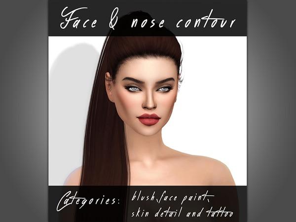 Sims 4 Face & Nose Contour set by KatVerseCC at TSR