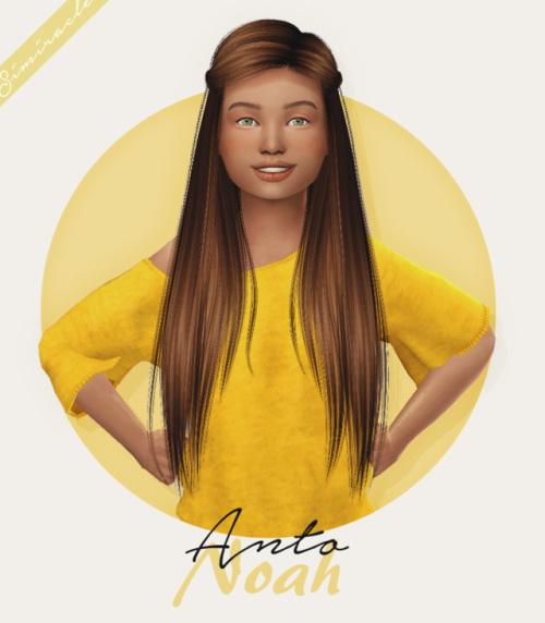 Sims 4 Anto Noah Hair Kids Version at Simiracle