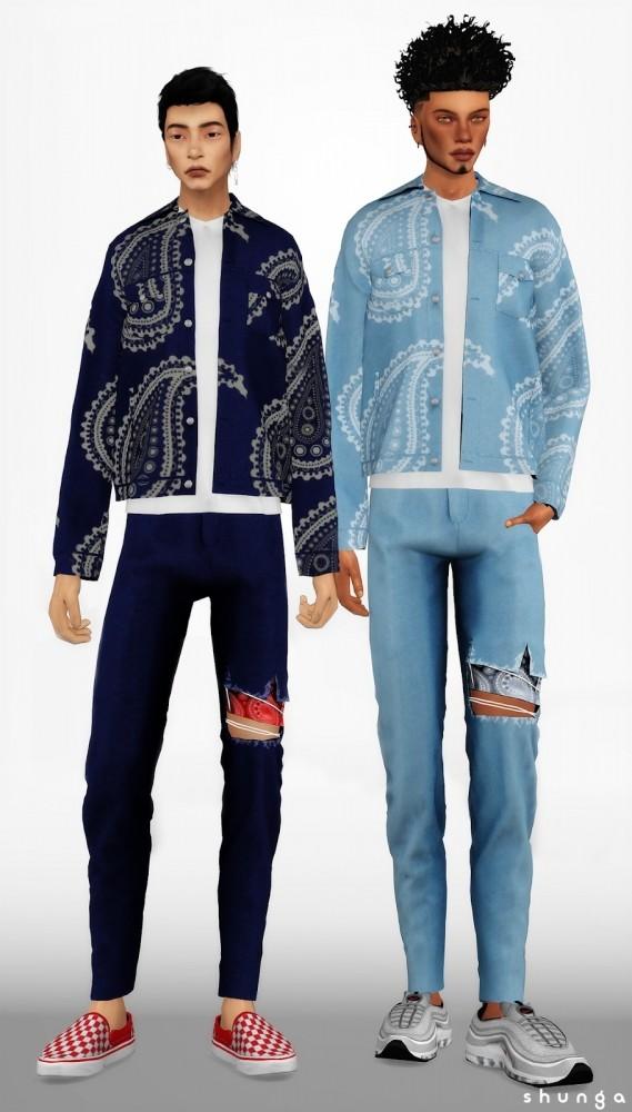 Sims 4 Jeans, Denim Jacket & Hoodie at Shunga