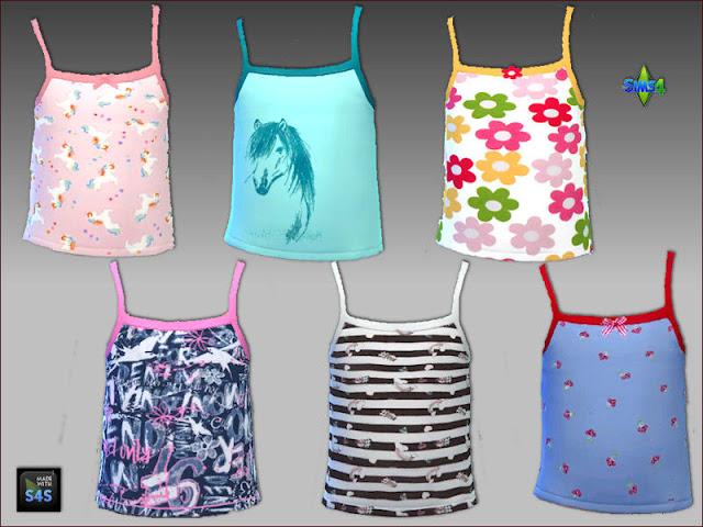Sims 4 6 sleepwear sets for girls at Arte Della Vita