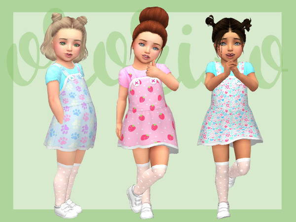 Toddler Playdate N05 Pinafore by Ororizo at TSR image 9516 Sims 4 Updates