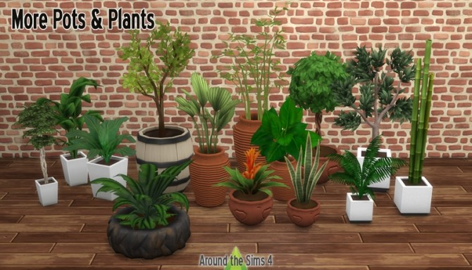 More Pots & Plants by Sandy at Around the Sims 4 image 9519 670x384 Sims 4 Updates
