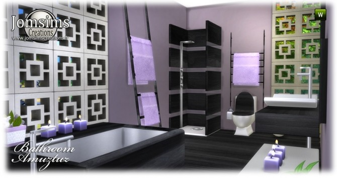 Amuztuz bathroom at Jomsims Creations image 9520 670x355 Sims 4 Updates