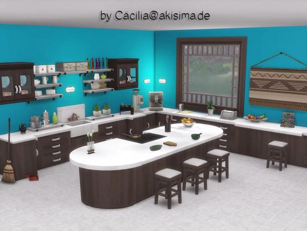 Selvadorada island counters & bar stools by Cäcilia at Akisima image 953 Sims 4 Updates