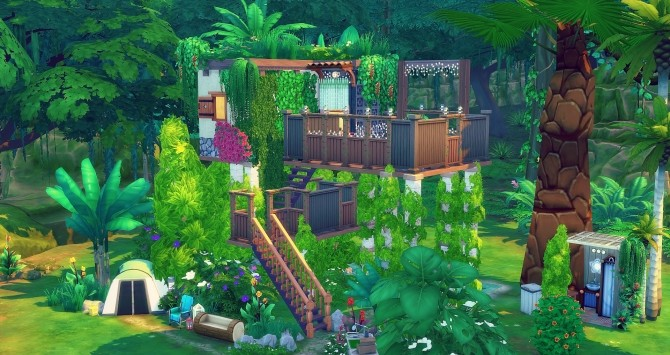 Perchée cabin by Angerouge at Studio Sims Creation image 955 670x355 Sims 4 Updates