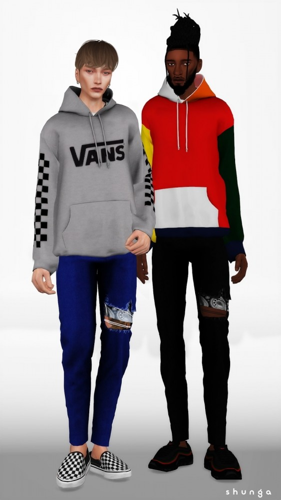Jeans, Denim Jacket & Hoodie at Shunga image 958 563x1000 Sims 4 Updates