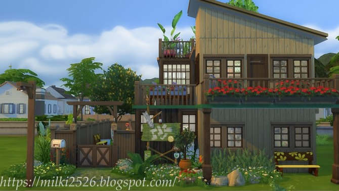 Two neighbors house at Milki2526 image 959 670x377 Sims 4 Updates