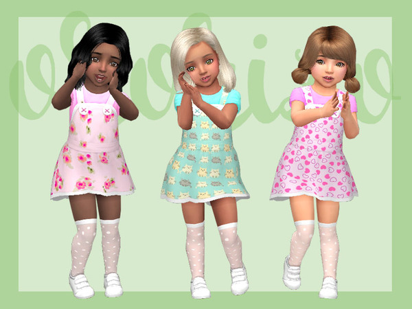Toddler Playdate N05 Pinafore by Ororizo at TSR image 9616 Sims 4 Updates