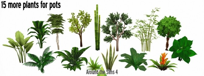 More Pots & Plants by Sandy at Around the Sims 4 image 9619 670x250 Sims 4 Updates