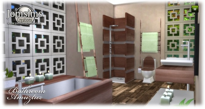 Amuztuz bathroom at Jomsims Creations image 9620 670x355 Sims 4 Updates