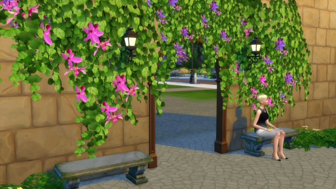 Tropical Vines In Bloom By Snowhaze At Mod The Sims 187 Sims 4 Updates