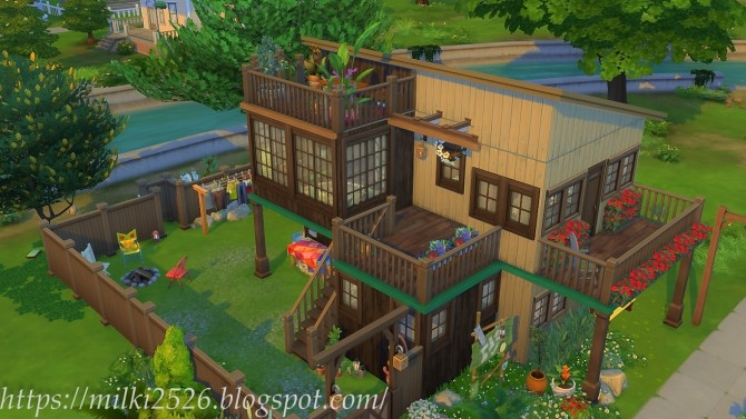 Two neighbors house at Milki2526 image 969 670x377 Sims 4 Updates
