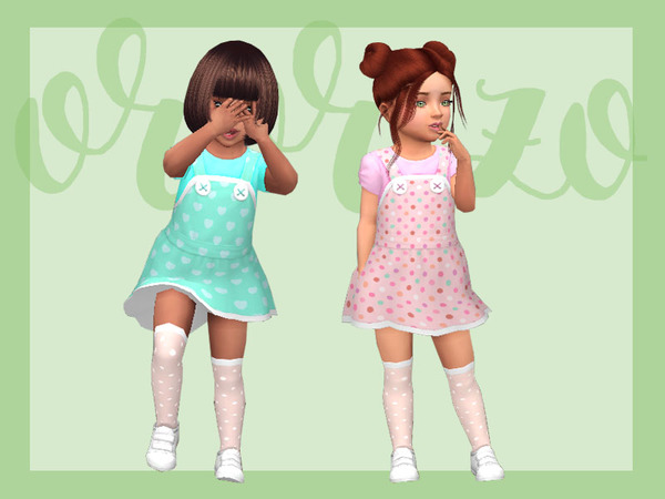 Toddler Playdate N05 Pinafore by Ororizo at TSR image 9715 Sims 4 Updates