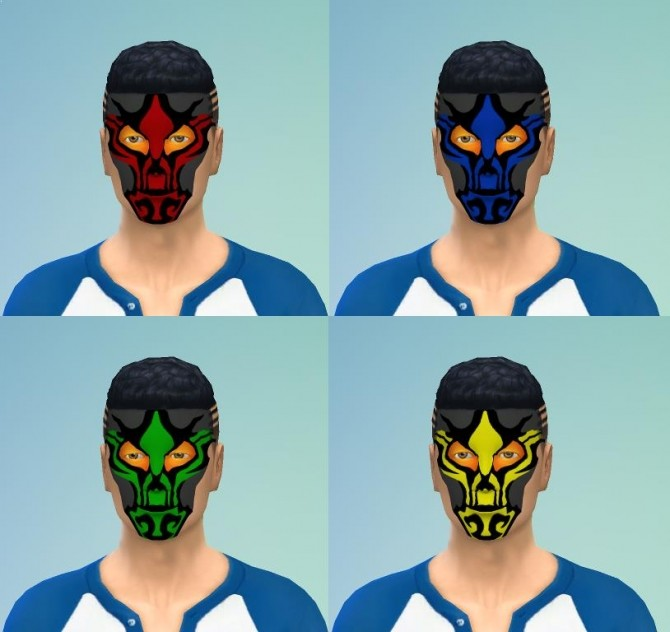 Dragon Face Paint by EmilitaRabbit at Mod The Sims image 9716 670x632 Sims 4 Updates