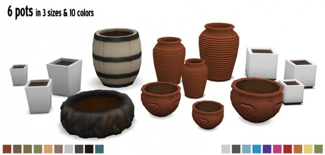 More Pots & Plants by Sandy at Around the Sims 4 image 9718 670x319 Sims 4 Updates