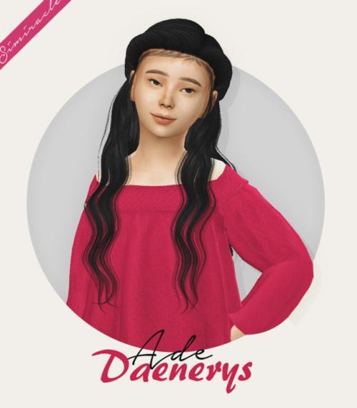 Ade Daenerys Hair Kids Version at Simiracle image 977 Sims 4 Updates