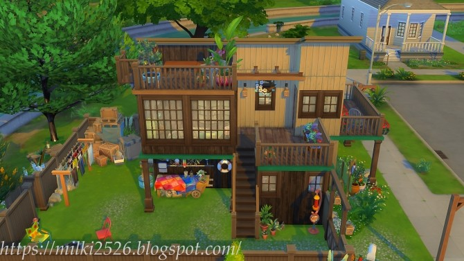 Two neighbors house at Milki2526 image 978 670x377 Sims 4 Updates