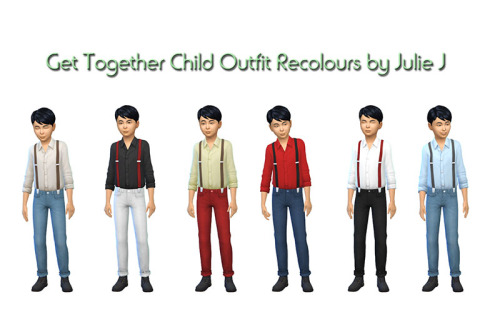 Get Together Child Outfit Recolours at Julietoon – Julie J image 9819 Sims 4 Updates