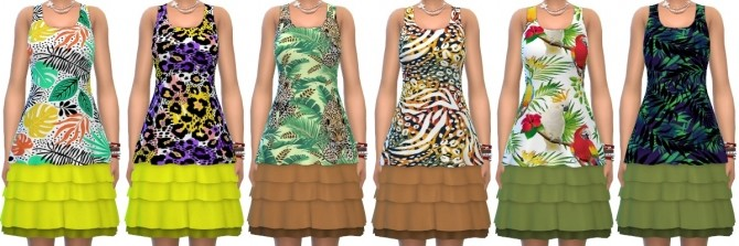 Sims 4 Jungle Adventure Dress Recolors at Annett's Sims 4 Welt
