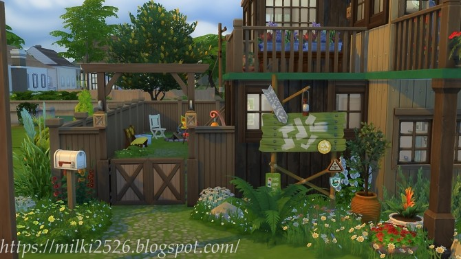 Two neighbors house at Milki2526 image 988 670x377 Sims 4 Updates