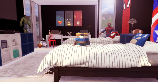 Sims 4 Super Hero Twins BedRoom at Lily Sims