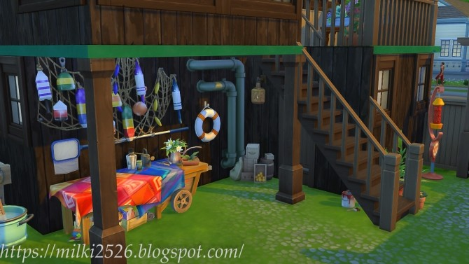 Two neighbors house at Milki2526 image 998 670x377 Sims 4 Updates