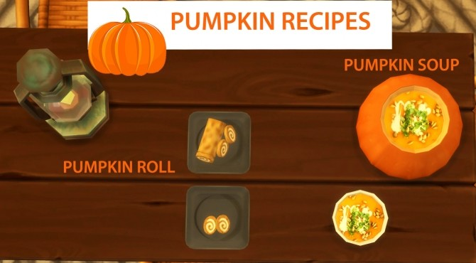 Pumpkin Recipes Soup and Roll by icemunmun at Mod The Sims image 999 670x370 Sims 4 Updates