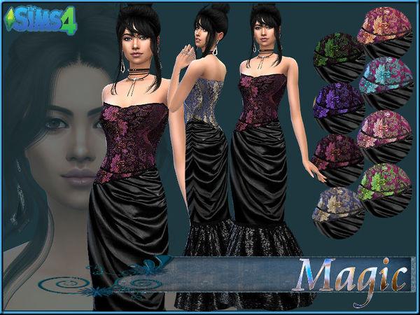Sims 4 Dress J LolaKita by MagicMoonSims3 at TSR