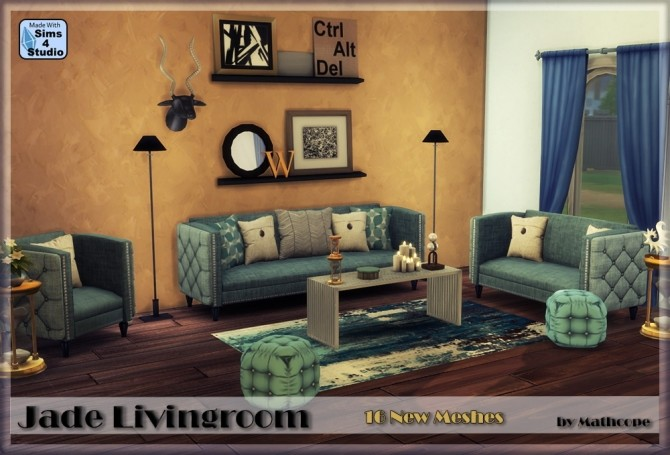 Jade livingroom by Mathcope at Sims 4 Studio image 101 670x455 Sims 4 Updates