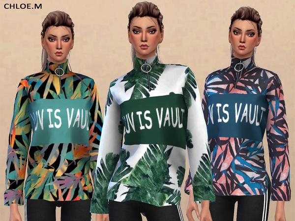 Sims 4 Sportswear top by ChloeMMM at TSR