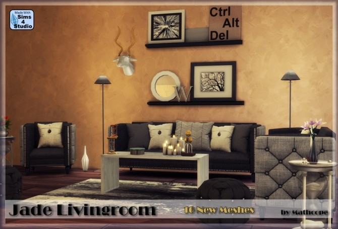Jade livingroom by Mathcope at Sims 4 Studio image 103 670x455 Sims 4 Updates