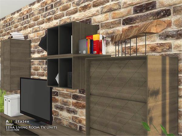 Lena Living Room TV Units by ArtVitalex at TSR image 1042 Sims 4 Updates