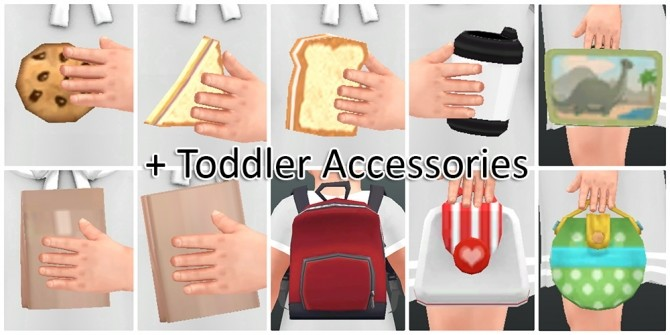 Toddler Pose N06 + Accessories at qvoix – escaping reality image 1057 670x335 Sims 4 Updates