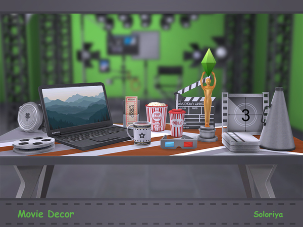 Movie Decor by soloriya at TSR image 1102 Sims 4 Updates