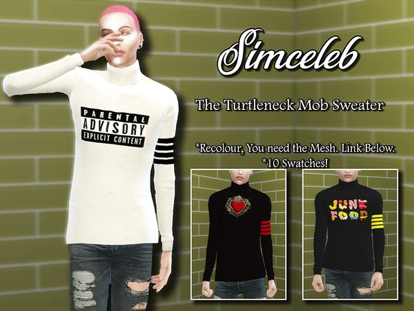 The Turtleneck Mob Sweater by simceleb at TSR image 1107 Sims 4 Updates