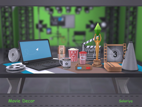 Movie Decor by soloriya at TSR image 1113 Sims 4 Updates