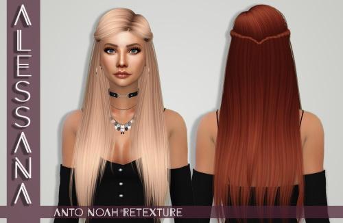 Sims 4 Anto Noah Hair Retexture at Alessana Sims