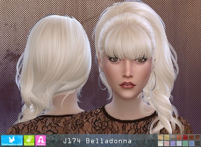 J174 Belladonna hair (P) at Newsea Sims 4 image 11212 670x491 Sims 4 Updates