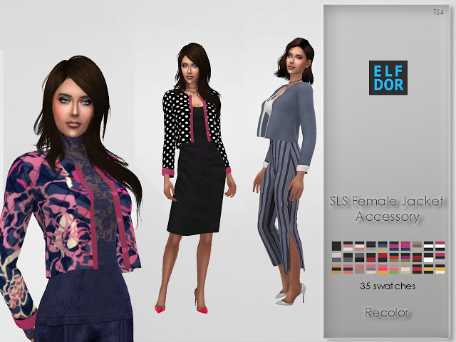 Sims 4 Simtographies Accessory Jacket Recolor at Elfdor Sims