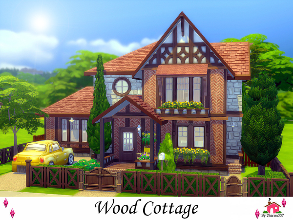 Wood Cottage Nocc by sharon337 at TSR image 1129 Sims 4 Updates