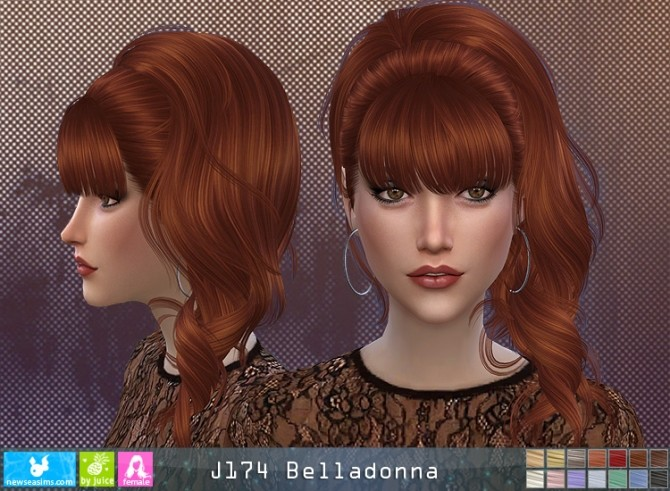 J174 Belladonna hair (P) at Newsea Sims 4 image 11312 670x491 Sims 4 Updates