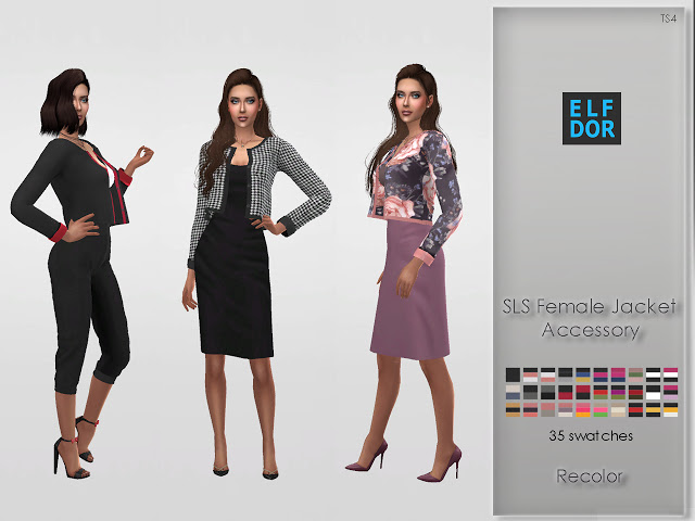 Simtographies Accessory Jacket Recolor at Elfdor Sims image 1136 Sims 4 Updates
