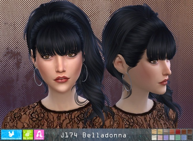 J174 Belladonna hair (P) at Newsea Sims 4 image 11411 670x491 Sims 4 Updates