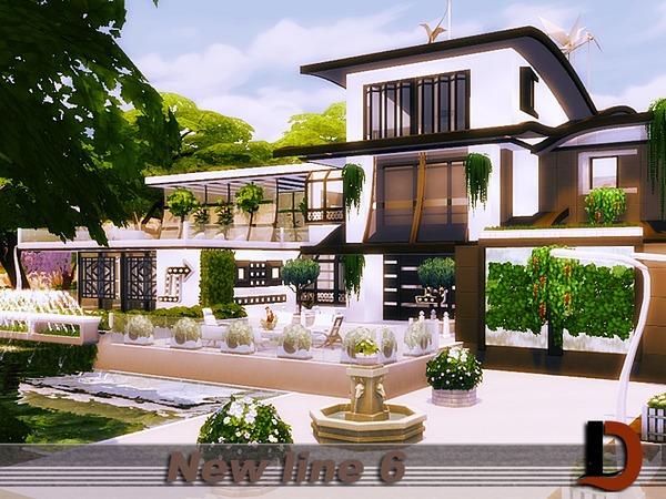 Sims 4 New line 6 house by Danuta720 at TSR