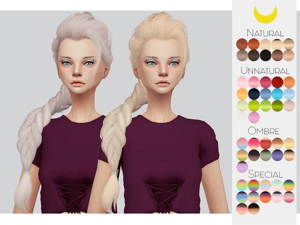 Sims 4 Hair Retexture 57 LeahLilliths Elsa by Kalewa a at TSR